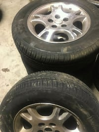 Almost brand new 4 tires with rims Mississauga