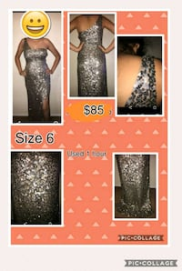 women's black glittered sleeveless dress Salinas, 93905