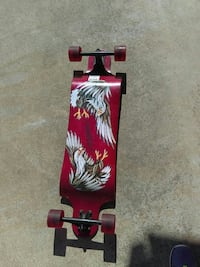 red, white, and brown eagle longboard Manteca, 95337