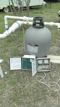 Pool filter and electronic chlorine generator