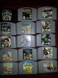 N64 games take all 15 for$150 2213 mi