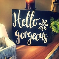 """12"""" by 12"""" wooden sign handmade discount if two purchased"""