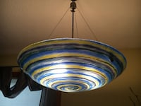 Hand blown pendant lamp