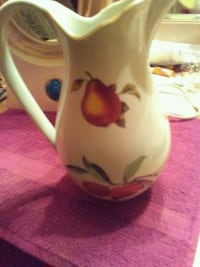 white and red floral ceramic pitcher Ellicott City, 21043