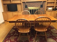 two brown wooden windsor chairs Frederick, 21704