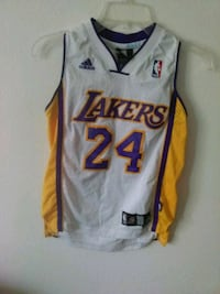 white and red Lakers 24 jersey Long Beach, 90810
