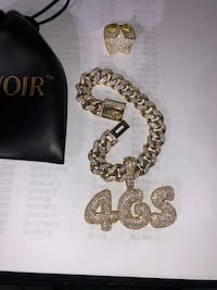 Gold bonded jewelry handmade stones not glued Miami Cubans + custom work and letters available starting at 99$+  Newark