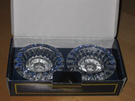 NEW - Genuine Crystal Candlestick Candle Holder Set
