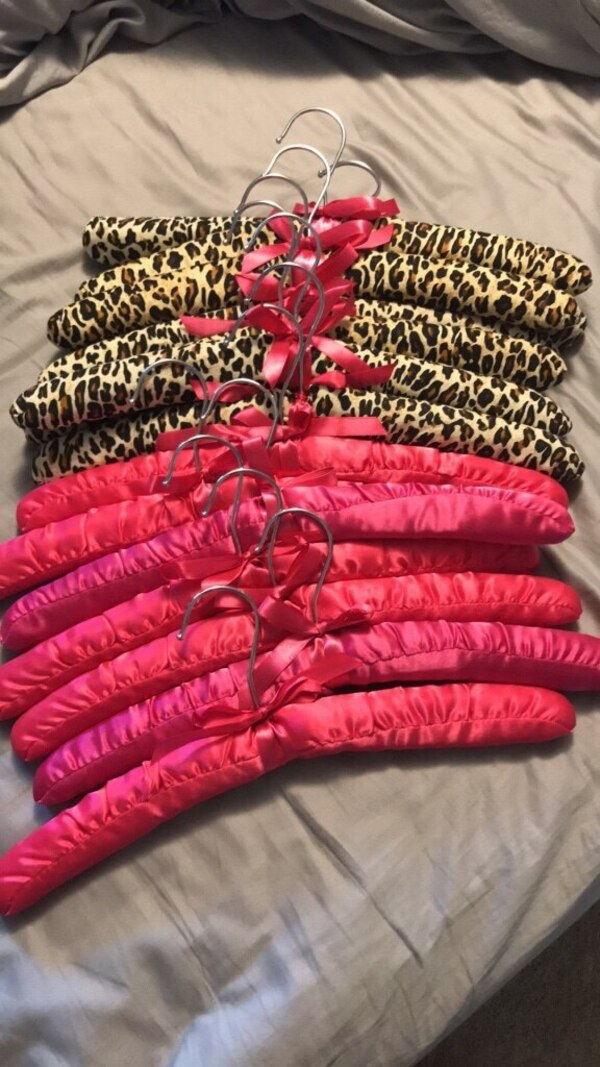 Soft pink and leopard hangers
