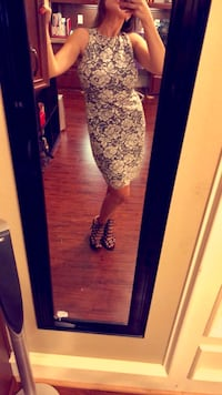 Women's lace black and white cocktail dress  McAllen, 78504