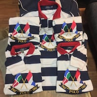 BNWT POLO RALPH LAUREN CROSS FLAGS ANNIVERSARY RUGBY