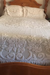 Vintage Bedspread with pillows made in Portugal