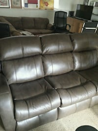 Remote control Brown Leather Couch  Fairfax, 22032