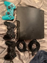 PS3, Cords + 3 Controllers