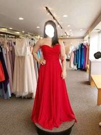 Red Strapless Dress Cambridge