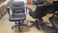 Set of 2 matching office desk chairs