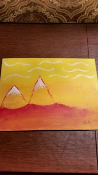 Sunset Mountains acrylic painting Mississauga, L5M 3T6