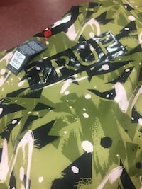 black and green camouflage print crew-neck shirt Capitol Heights, 20743