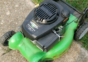 Lawnboy self propelled mower with bag attachment