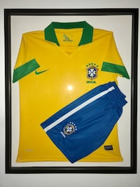 BRAZIL Soccer JERSEY FRAMED IN SHADOW BOX Toronto, M2J 1Z1