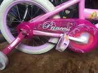 Pink and white bicycle with training wheels, perfect for a little girl. This bicycle is in perfect condition Falls Church, 22042