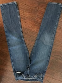 blue denim straight-cut jeans Mobile, 36608