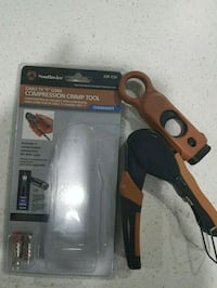Cable crimping tool and cutter