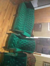 green and black leather armchair Columbus, 31904