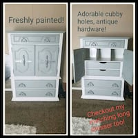 Beautiful matte grey matching dresser pair!  Winfield, 63389