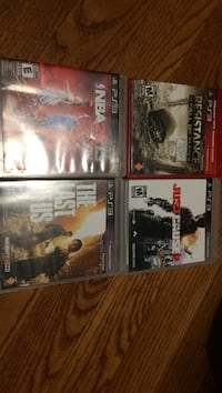 four assorted Sony PS3 game cases Toronto, M1P