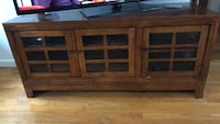 brown wooden TV stand with cabinet Newington, 03801