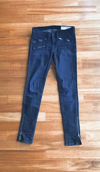 Rag & Bone dark wash jeans with zipper details Seoul