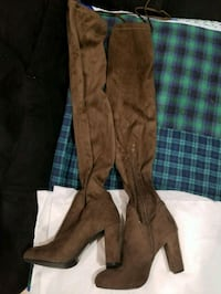Brown thigh high boots 44 km