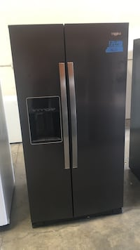 black side-by-side refrigerator with dispenser Concord, 94520