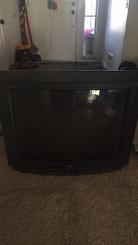 black CRT TV with remote Santa Clarita, 91321