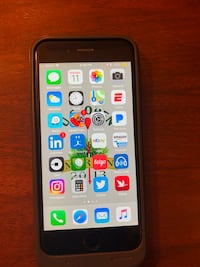 Sprint space gray iphone 6 with case