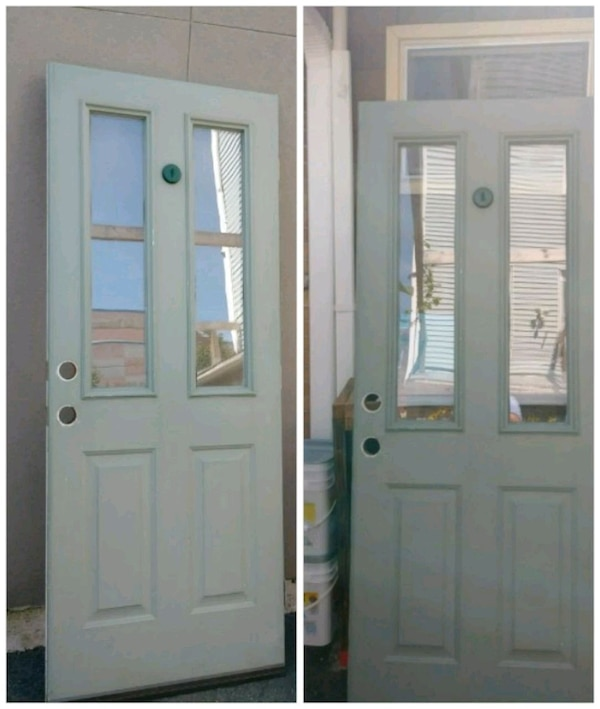 Used White Wooden Framed Glass Door For Sale In Union City Letgo
