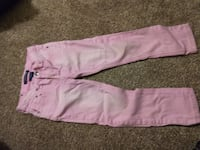 pink and white sweat pants Springfield