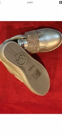 Silver Sparkle Michael Kors girls shoes size 3