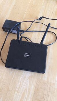Black D-Link Wi-Fi router
