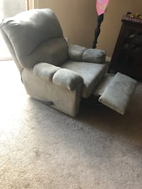 gray suede recliner sofa chair Parrish, 34219