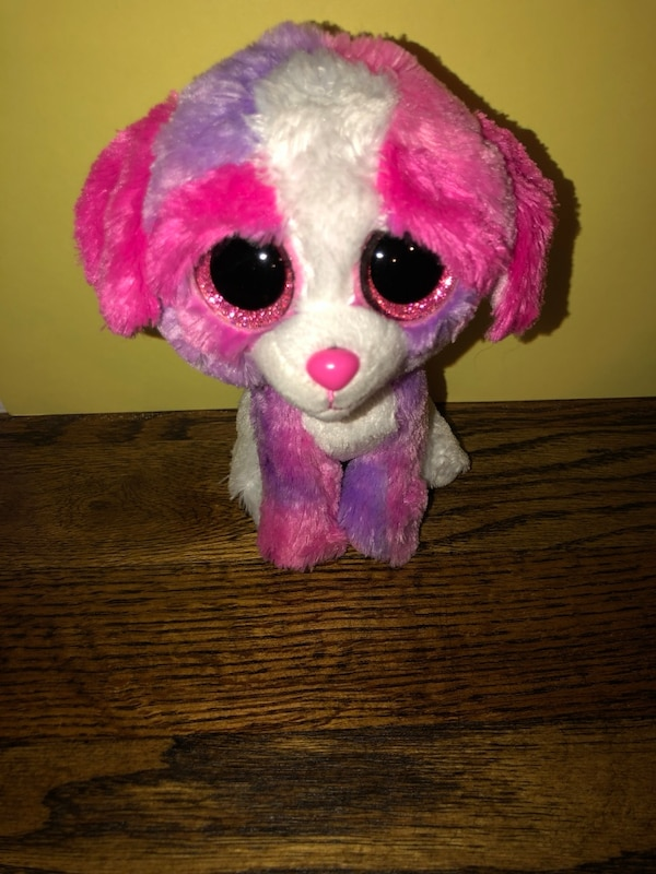 648c9f80939 pink and white Ty Beanie Boo dog plush toy usado en venta en Smithtown