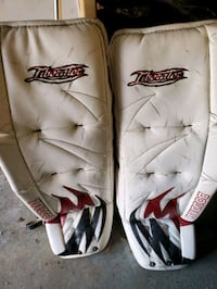 Used boddom goalie pads
