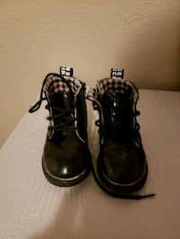 toddler's black leather boots Federal Way