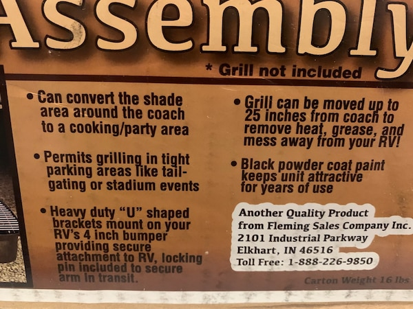 Outdoors unlimited Bumper Grill Arm Assembly - 14 Gauge Steel 1ef77a10-b452-486e-8398-193bba5d2510