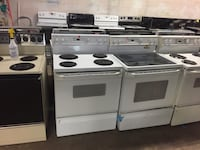 white and black induction range oven West Carrollton, 45449