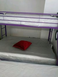 white and purple bed frame Indio, 92201