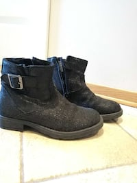 svart glitret side-zip booties Hagan, 1481