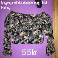 Magtröja off the shoulder topp HM H&M ny fynd blommig magtröja kläder mode trend superfin
