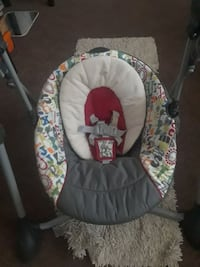 baby's gray and green portable swing St. Louis, 63123